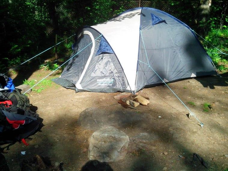 На Таганай с палаткой.