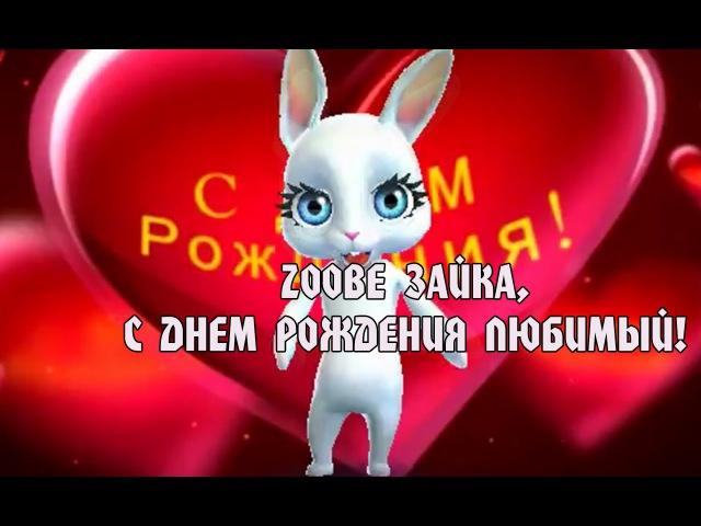 Zoobe Зайка, красивое поздравление в день рождения любимому!
