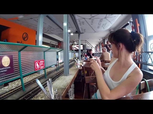 🍳 🍔 🍟 Прага Ресторан с паровозиками Пиво вагонами Prague Vytopna