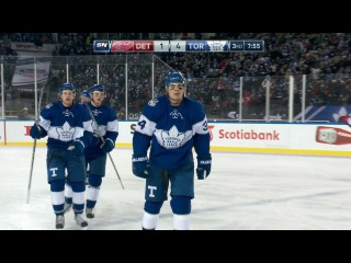 Matthews opens up for one-timer, instead uses lethal wrist shot