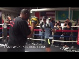 DOMINIC WADE SHOWS HE HAS POP TO HIS PUNCHES DURING MITT WORK - EsNews Boxing
