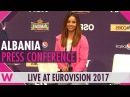 Albania Press Conference Lindita World Eurovision 2017 wiwibloggs
