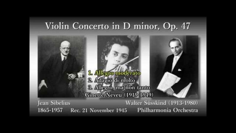 Sibelius Violin Concerto, Neveu Süsskind (1945) シベリウス ヴァイオリン協奏曲 ヌヴー