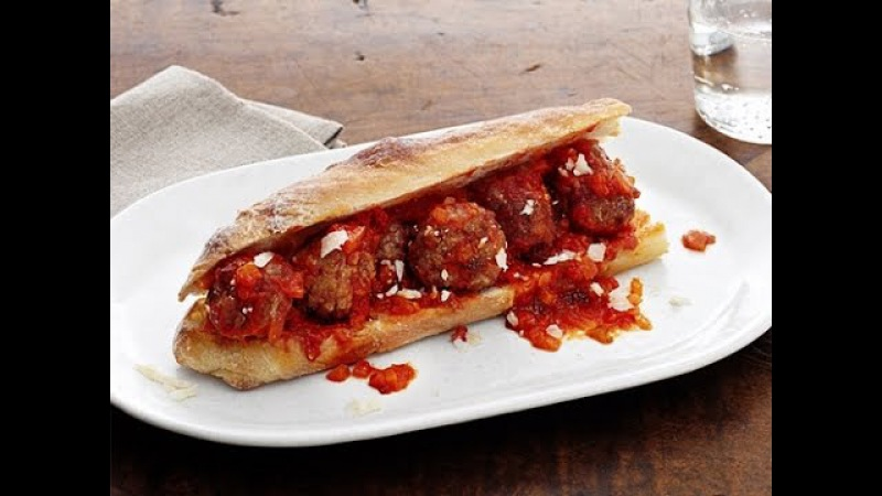 Итальянский сендвич с фрикадельками от Дженнаро Контальдо