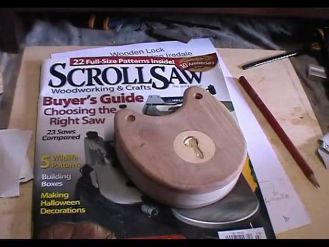 How to Build a Wooden Lock - ScrollSaw Magazine Plan