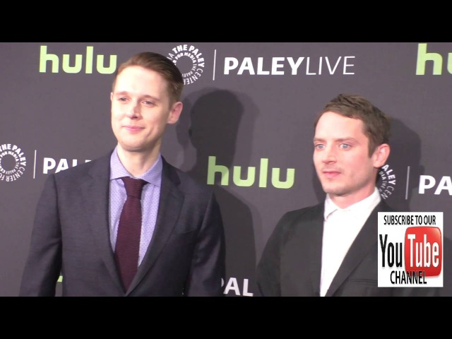 Elijah Wood and Samuel Barnett at the PaleyLive LA Dirk Gently's Holistic Detective Agency Premier