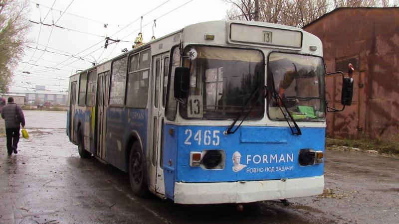 Троллейбус Зиу 682Г следует экспрессом в депо, г Тольятти