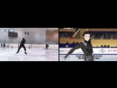 EROS Choreography Footage Side by Side Comparison Yuri ON ICE