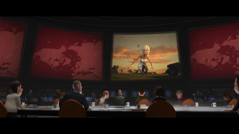 Монстры против пришельцев - Monsters vs. Aliens (2009) [HD720p]