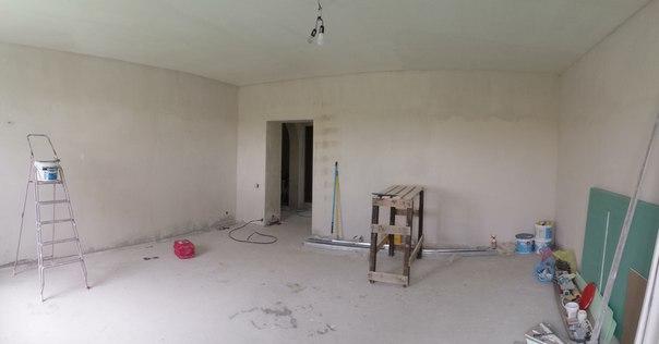 Коттедж царское село- ремонт в зале