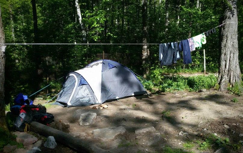 Таганай. Разбили палатку на территории Белого ключа. А надо было - за ним