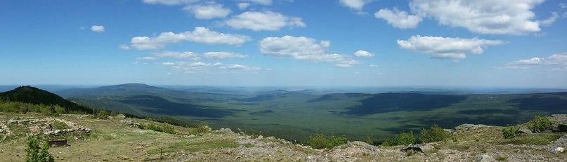Кусочек панорамного вида с метеостанции Таганай - Гора