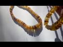 Лечебные бусы из янтаря. Шайбы