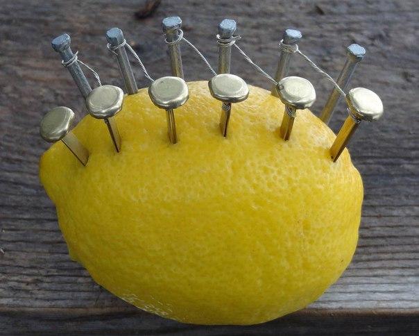 Как добыть огонь при помощи лимона