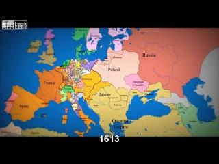 1000 Jahre europäischer Grenzen (Zeitraffer Karte)