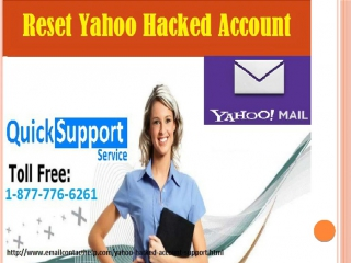 Just Regain Reset Yahoo Hacked Account just Dial 1-877-776-6261