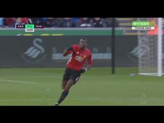 Суонси - Манчестер Юнайтед 0:1. Поль Погба