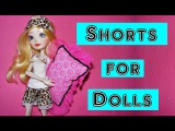 How to make Shorts for Dolls Tutorial DIY / Pajamas for Dolls Part 1