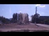 В Мелитополе на видео запечатлен пыльный вихрь