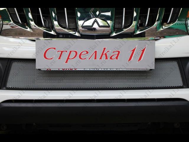 Защита радиатора MITSUBISHI L200 V 2015-н.в. (Хром) - strelka11.ru