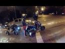 Ночная покатушка на квадроциклах по Москве. Night quad ride in Moscow.