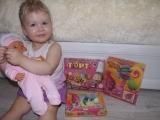 Играем и открываем подарки Маша и медведь торт,пано из пластилина тролли, trolls puzzle