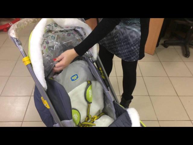 Санки коляска Ника детям 7-2 new 2016-2017 модельный год