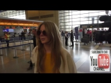 Lana Del Rey talks about her trip to Poland while departing at LAX Airport in Lo