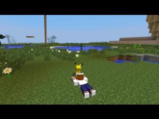 Minecraft vs Pokemon go - GIGA PIKACHU!! - (PvZ-Pokego Land)