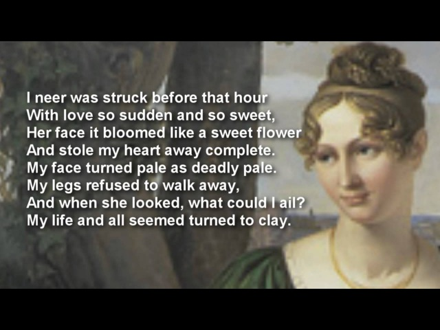First Love by John Clare with text