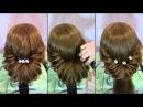 Быстрая и легкая прическа на длинные волосы (дополнительно)