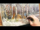 Oil painting Spring forest