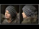 осенне зимняя женская шапка вязание спицами
