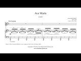 Schubert  Ave Maria (Latin) - Mezzo-Soprano or Baritone