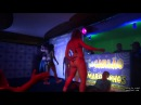 Hot Woman Trampling in Dance Party