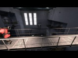 the tf2 soldier, running on a catwalk, whilst screaming