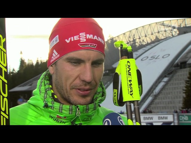 Holmenkollen-2017. Erik Lesser, Simon Schempp, Arnd Peiffer after sprint