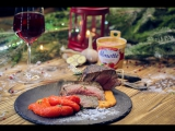 Филе-миньон с соусом из печеных перцев