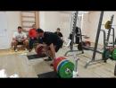 Егор Резепов - тяга 300 кг на 3 повтора