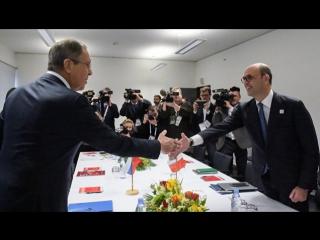 Встреча Министров иностранных дел Сергея Лаврова и Анджелино Альфано