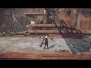 [www.VDyoutube.com]-NieR- Automata - Live Gameplay Demo Footage