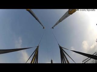 100-метровая человеческая катапульта для прыжков с парашютом / Human SlingShot-Catapult - Jimmy Pouchert & Chris Douggs