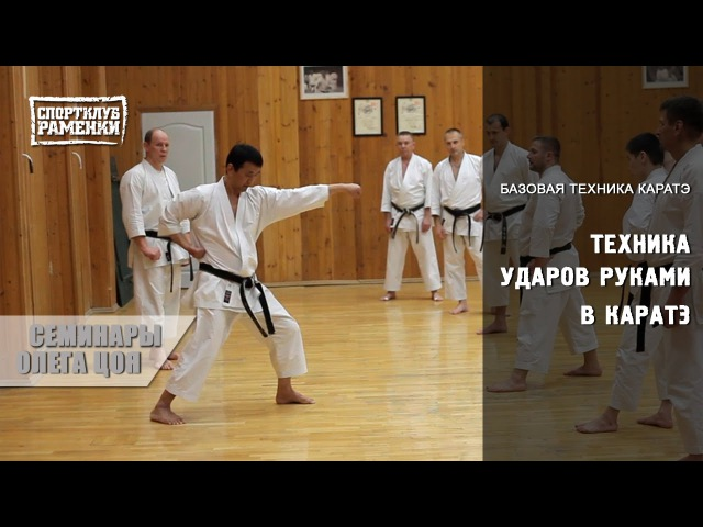Каратэ Шотокан. Уроки Олега Цоя. Базовая техника ударов руками в каратэ