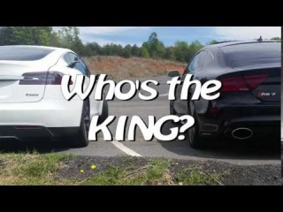 Ludicrous Tesla takes over local Street Racing spot - What happens when Dad's on Vacation!