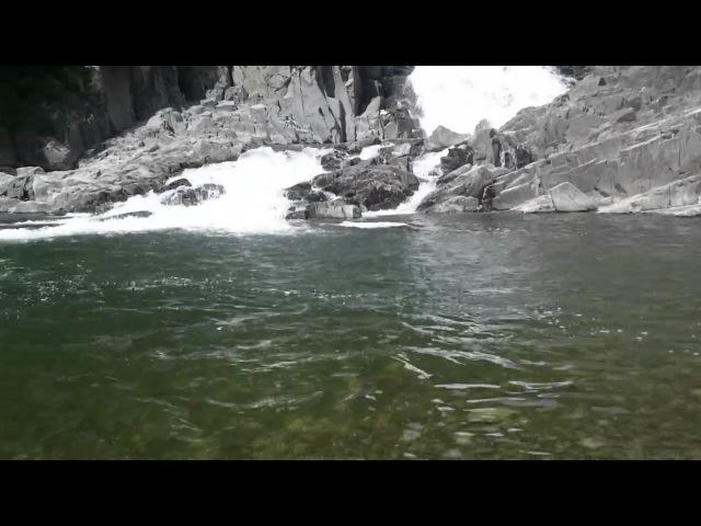 Нерест горбуши. Водопад на реке нитуй сахалин,Поронайский район.