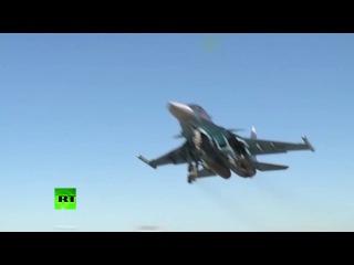 Российские Су-34, взлетев с иранского аэродрома Хамадан, нанесли удар по ИГ в Дейр эз-Зоре