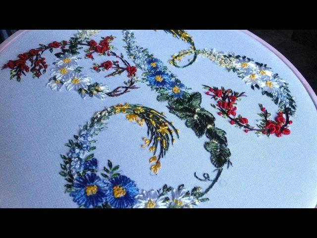 Embroidery Floral letter    Вышивка Цветочные буквы