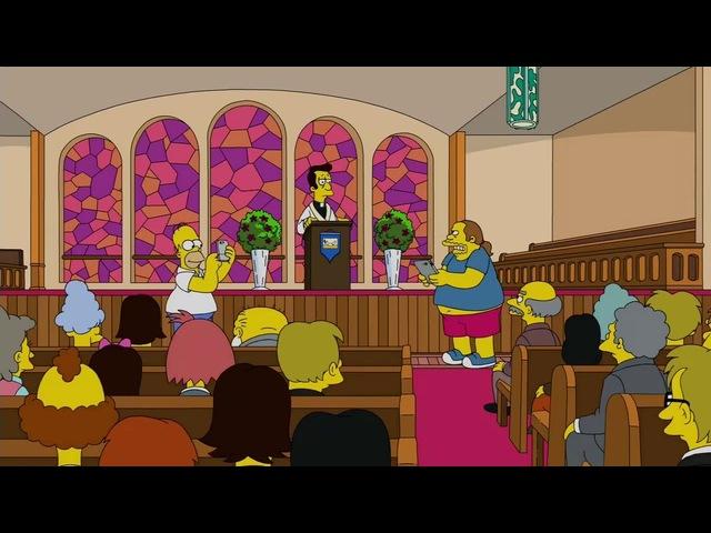 Гомер ловит покемонов в храме (Симпсоны - 28 сезон - 20 серия)