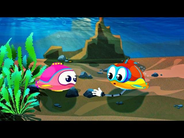 Dessin animé de Flippy le sous-marin 🌊en français pour enfants. Construction d'une MAISON 🌊