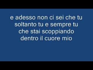 Claudio Baglioni - E tu con testo
